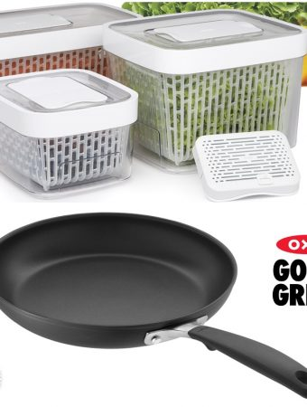 Oxo Good Grips GreenSaver Produce Keeper & 24cm Fryipan Giveaway