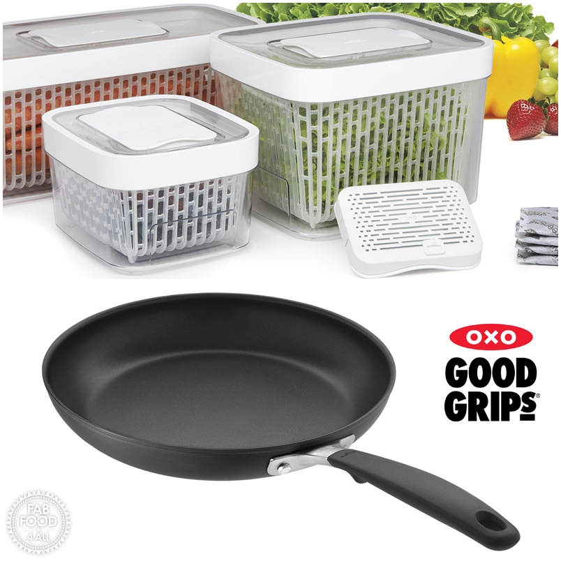 Oxo Good Grips GreenSaver Produce Keeper & Frying Pan Giveaway