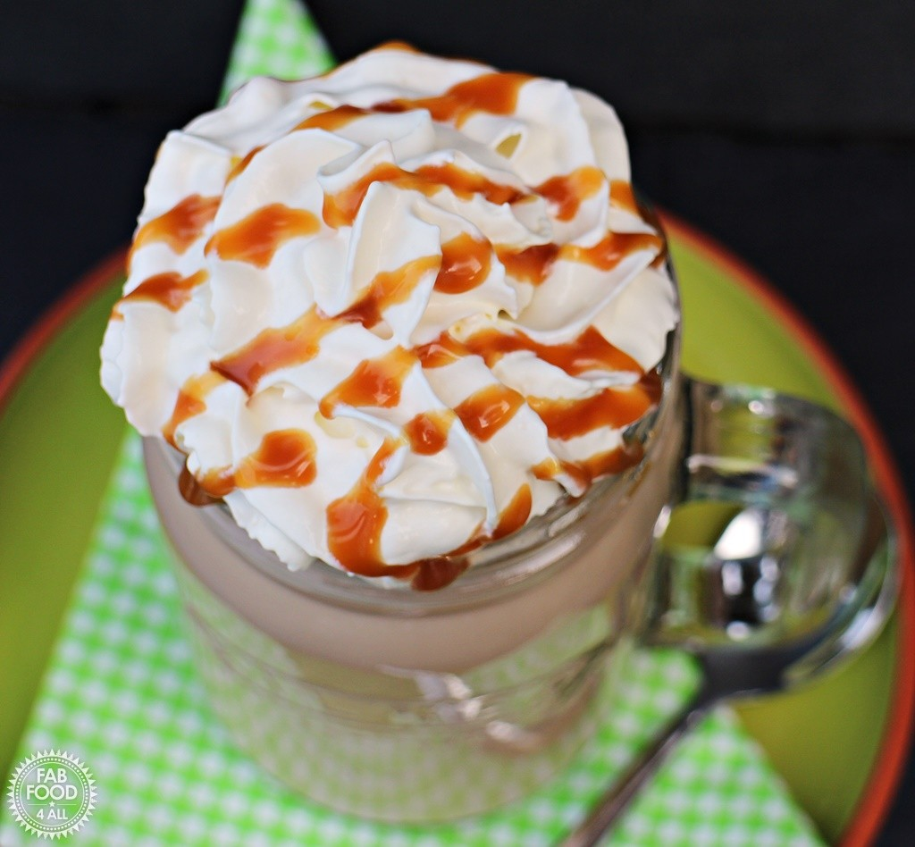 Cheat's Iced Salted Caramel Mocha - Fab Food 4 All