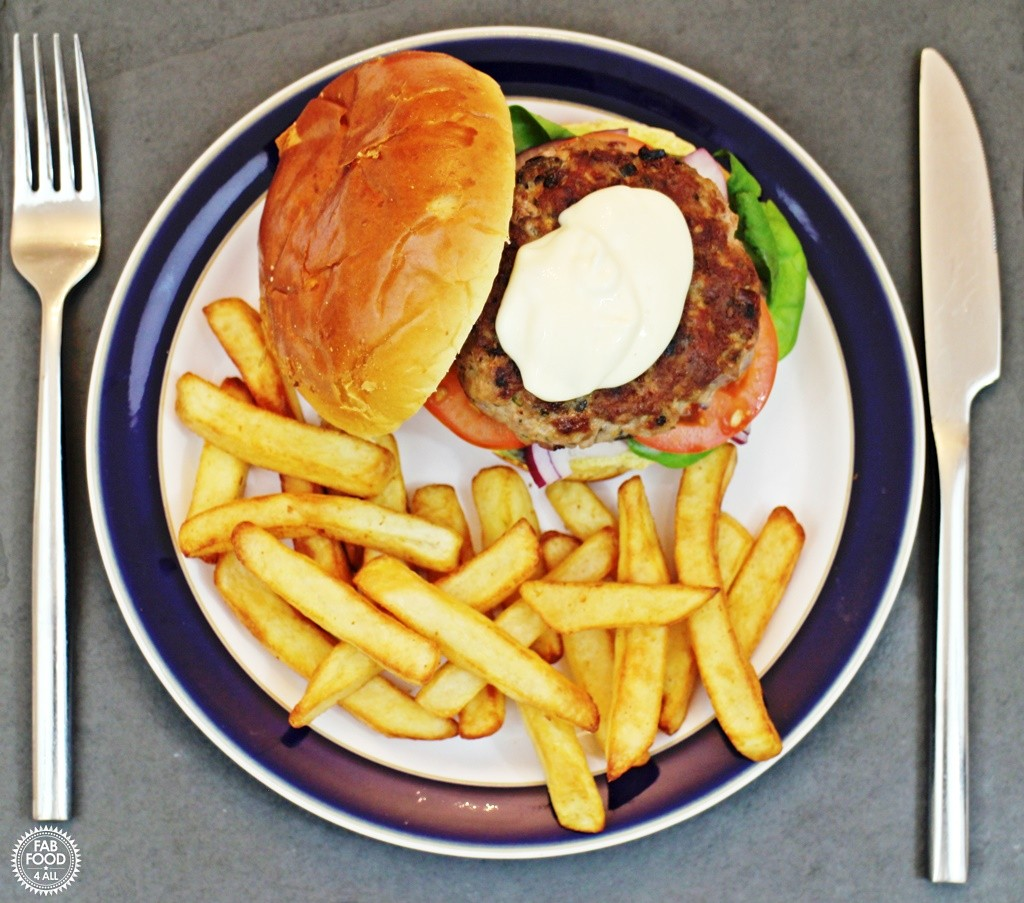 Greek Lamb Burgers with Lemon Mayonnaise - Fab Food 4 All
