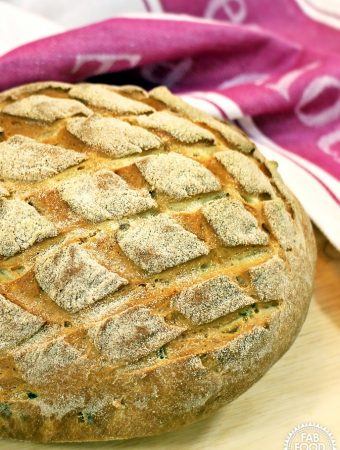 Olive and Parmesan Cob Loaf - Fab Food 4 All