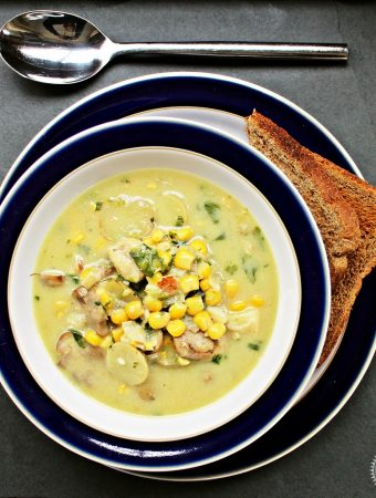 Skinny Haddock, Bacon and Mushroom Chowder