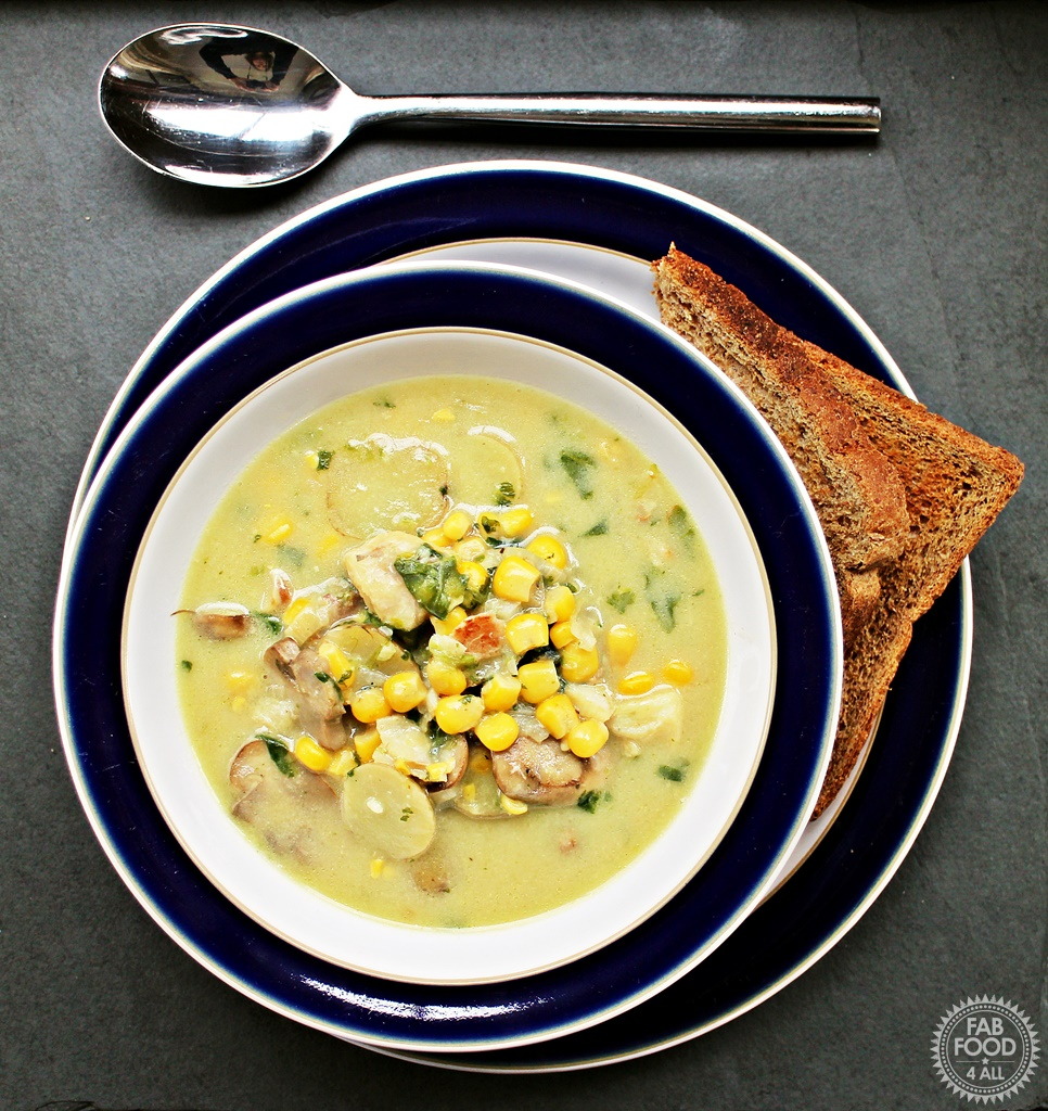 Skinny Haddock, Bacon and Mushroom Chowder - Fab Food 4 All
