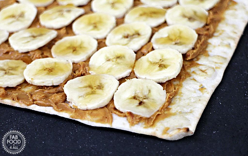Peanut Butter and Banana Gluten Free Wrap n Rolls