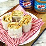 Peanut Butter and Banana Gluten Free Wrap n Rolls - Pinterest Image.