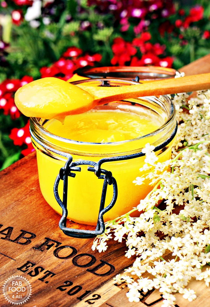 Easy Lemon & Elderflower Curd - Fab Food 4 All