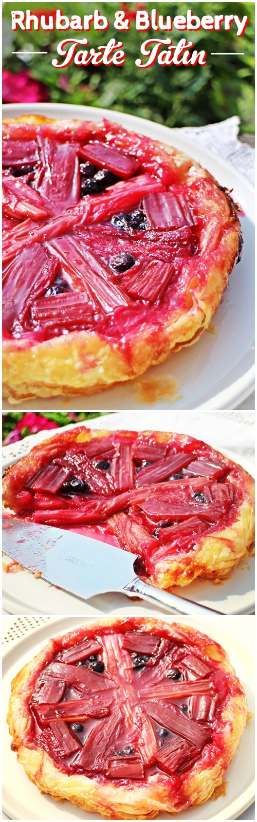 Rhubarb & Blueberry Tarte Tatin - Fab Food 4 All