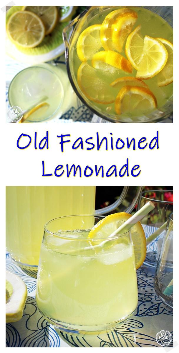 Old Fashioned Lemonade Pinterest image.