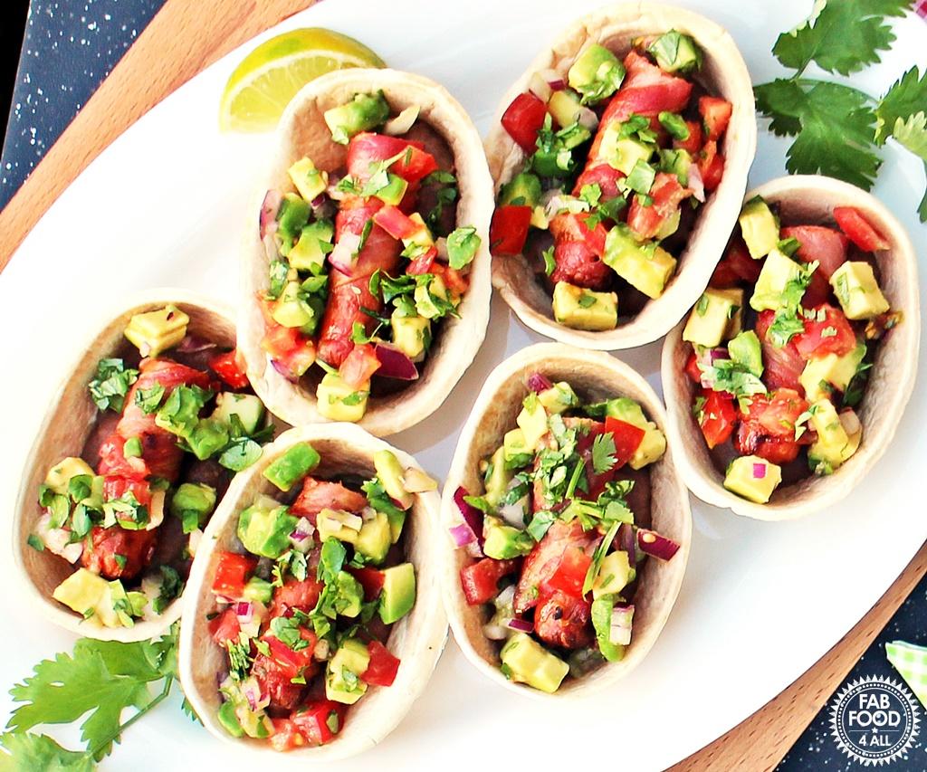 Mexican Hot Dog Tortillas - Fab Food 4 All