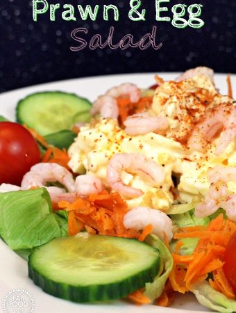 Prawn & Egg Salad – a quick and easy meal!