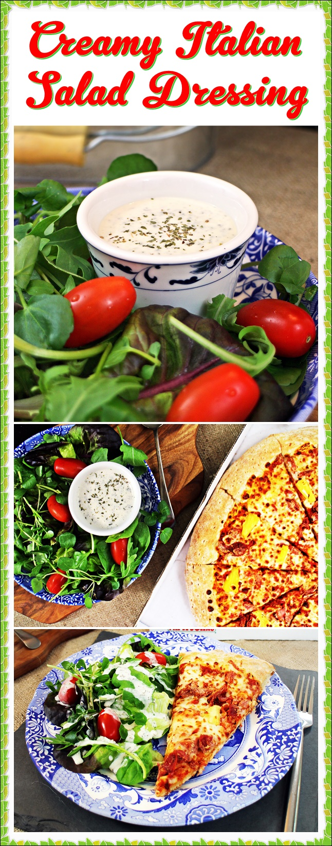 Creamy Italian Salad Dressing - great with pizza!