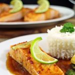 Grilled Salmon with Citrus Tamari Dressing #PowerofFrozen - a quick and healthy meal. Fab Food 4 All