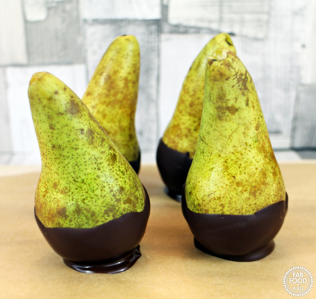 Chocolate Pear Ghosts - Fab Food 4 All