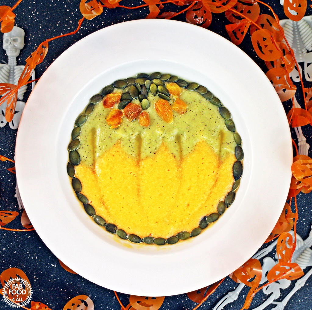 Halloween Smoothie Bowl - fun pumpkin design! Fab Food 4 All