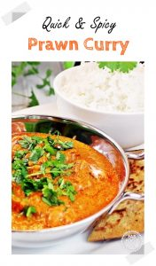 Quick & Spicy Prawn Curry Pinterest Image