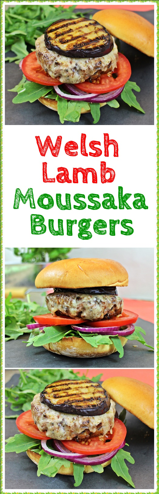 Welsh Lamb Moussaka Burgers - Fab Food 4 All