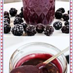 Easy Blackberry Curd Pinterest image