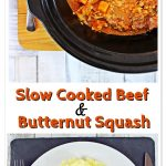 Slow Cooked Beef & Butternut Squash Pinterest image.