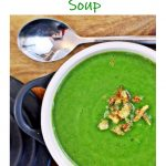 Spinach & Butternut Squash Soup Pinterest image.