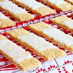 Danish Fedtebrød – Coconut Cookie Slices with Rum Glaze - Fab Food 4 All