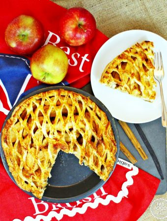 Spiced Apple Lattice Pie for #BritishPieWeek