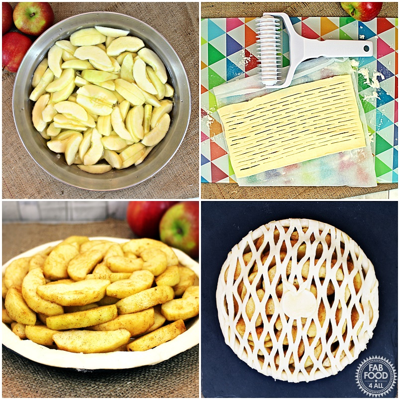 Spiced Apple Lattice Pie #BritishPieWeek - Fab Food 4 All