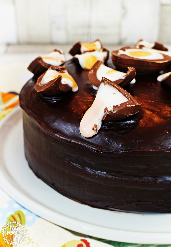 Creme Egg Chocolate Cake, so moist & delicious! @FabFood4All