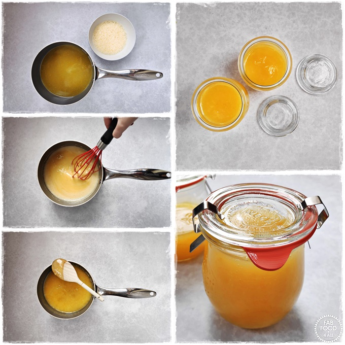 Granny's Quick Lemon Curd step by step photo montage. 2nd half of steps.