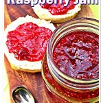 Quick & Easy Raspberry Jam with scones - Pinterest image.