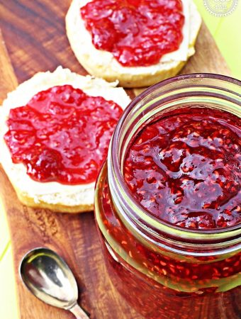 Quick & Easy Raspberry Jam – no pectin