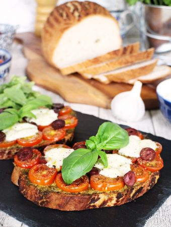 Pizzetta Toast – quick, easy and gluten free!