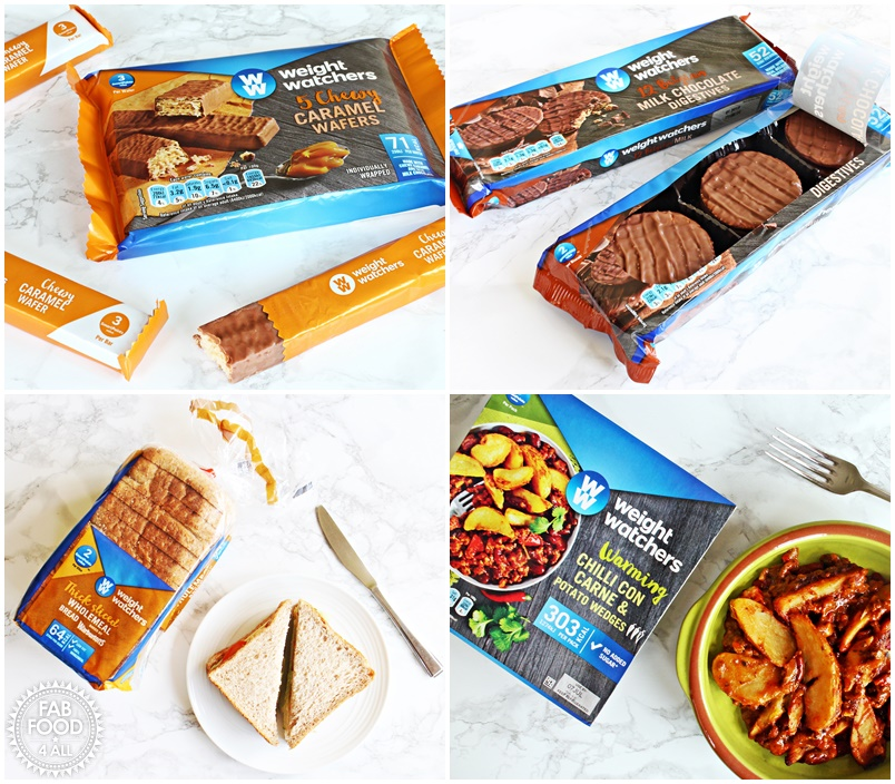 Weight Watchers Chocolate Digestives, Caramel Wafers, Wholemeal Bread and Chilli Con Carne review