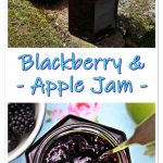 Easy Blackberry and Apple Jam Pinterest image.