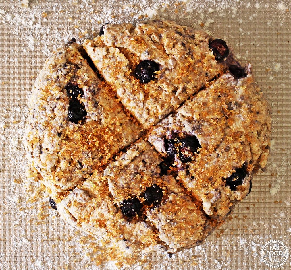 Blueberry & Lemon Soda Bread @Fabfood4All