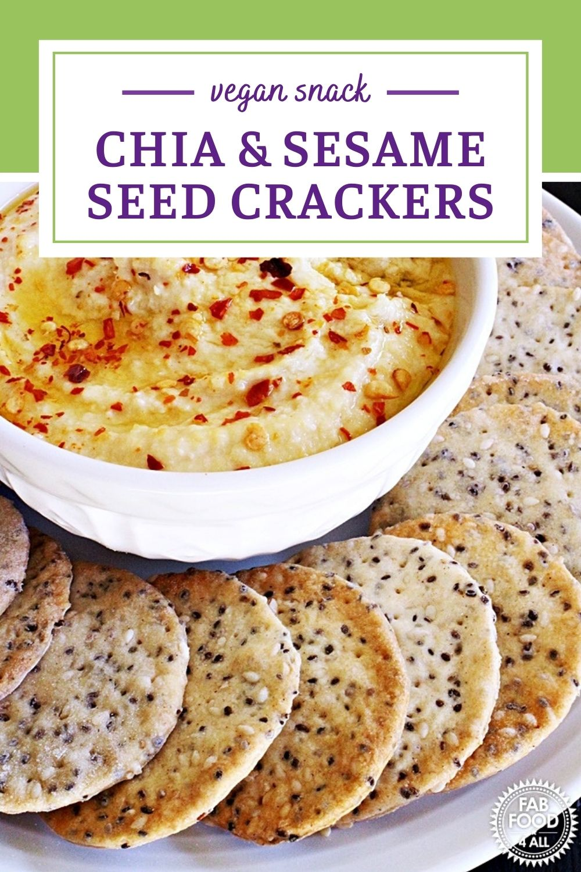 Chia & Sesame Seed Crackers Pinterest Image