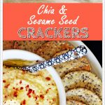 Chia & Sesame Seed Crackers - so easy & delicious!