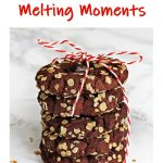 Chocolate Melting Moments Pinterest image.
