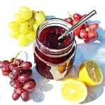 Easy Grape Jam - 3 ingredients & pectin free! @FabFood4All #grapejam #grape #jam #jelly