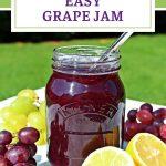 Easy Grape Jam Pinterest image.