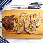 Slow Cooker Shoulder of Welsh Lamb with Apricot & Chestnut Stuffing @FabFood4All