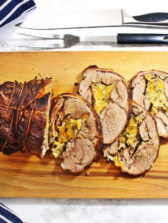 Slow Cooker Shoulder of Welsh Lamb with Apricot & Chestnut Stuffing