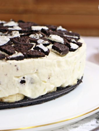 Banoreo Cheesecake – vegetarian, no-bake, perfect for entertaining!