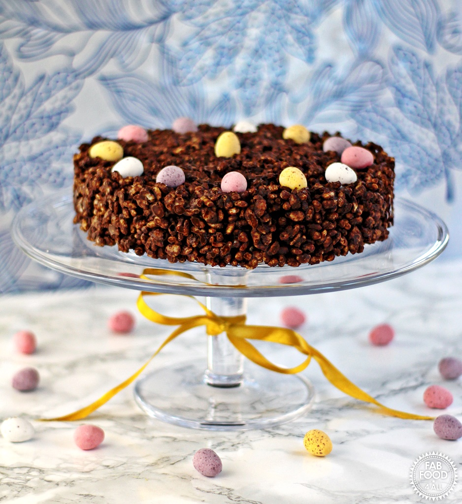 Groovy Mini Egg Chocolate Rice Crispy Cake Fab Food 4 All Personalised Birthday Cards Sponlily Jamesorg