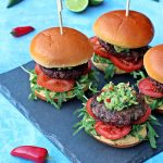 BBQ Chilli Burgers with Spicy Guacamole - Fab Food 4 All