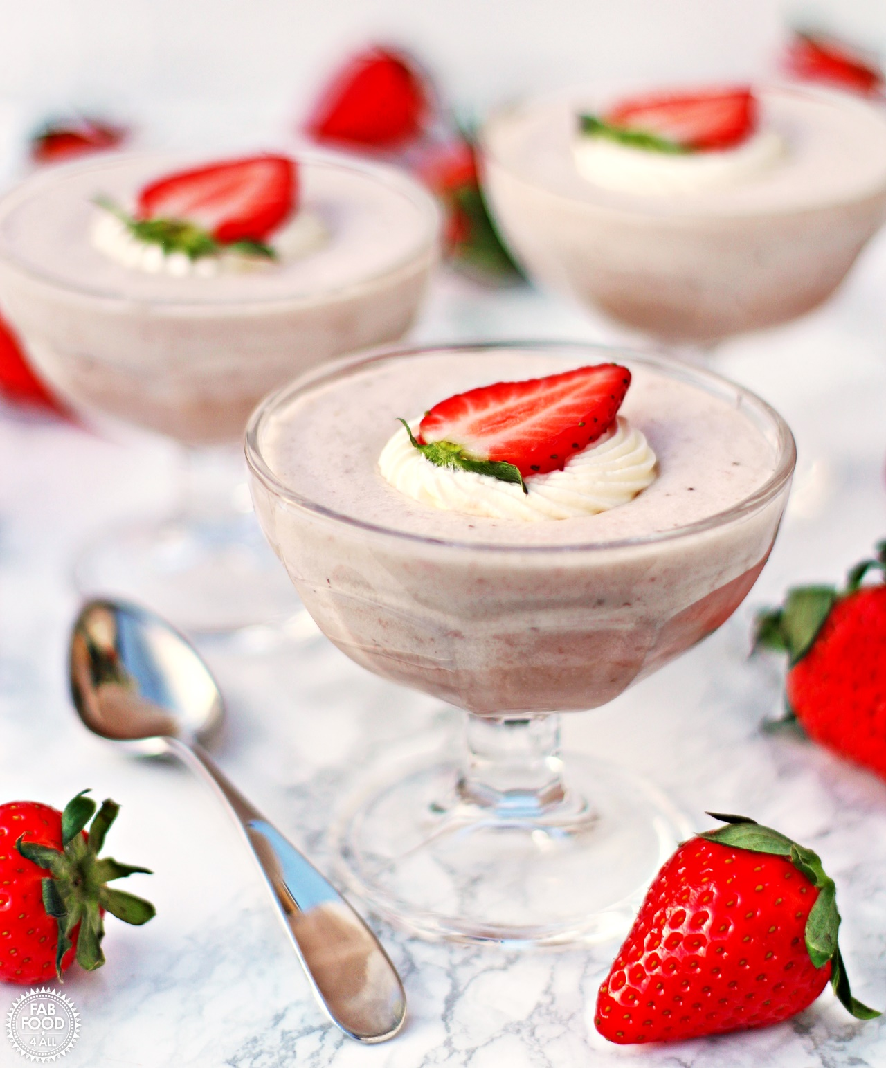 White Chocolate & Strawberry Mousse