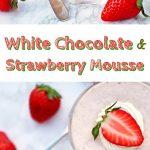 White Chocolate & Strawberry Mousse Pinterest image.
