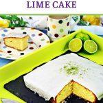 Easy Iced Lime Cake Pinterest image