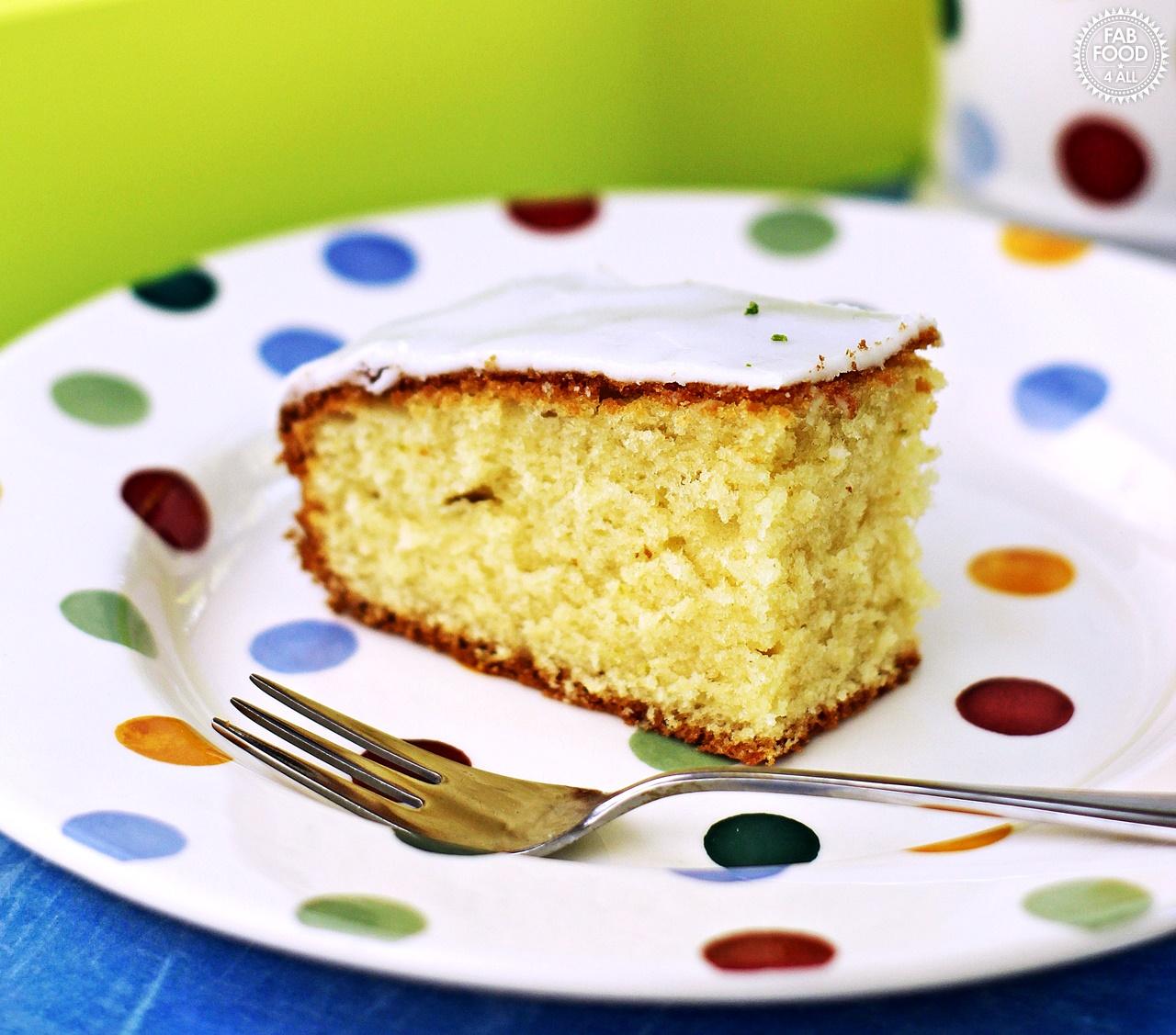 Slice of Iced Lime Cake