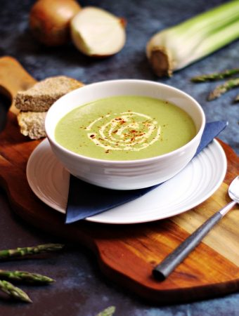 Cream of Asparagus & Celery Soup – quick & delicious!