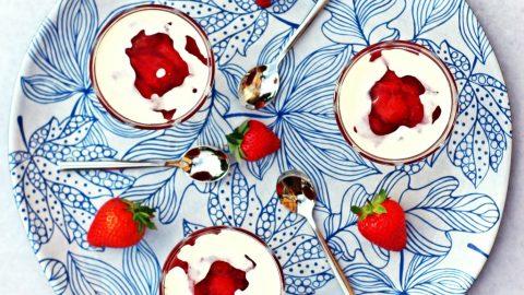 Rødgrød med Fløde (Danish Red Berry Compote with Cream)